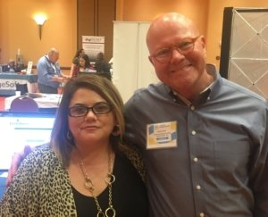 Brian Cook with Lisa Sechrest of Quinlan, TX